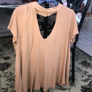 chocker v neck top